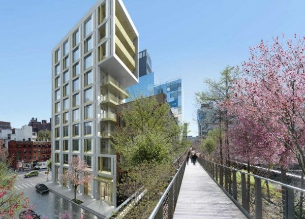 Hudson Yard Luxuswohnungen 500 West 25 Straße High Line