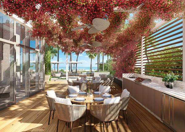 57 Ocean Miami Beach Grillplatz