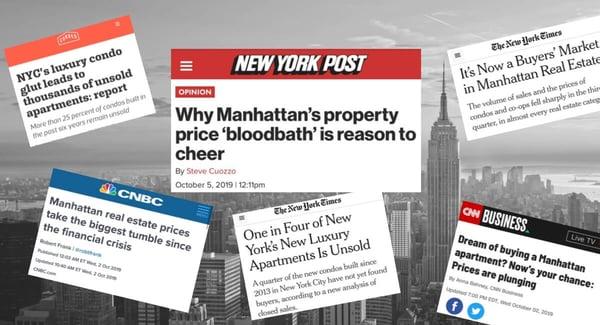 Manhattan Condo-Preise Marktabschwächung