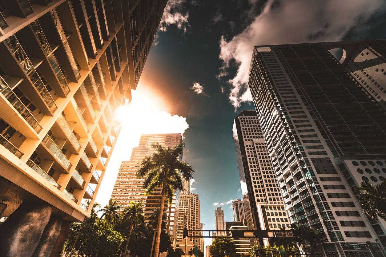 Wohnhochhäuser in downtown miami